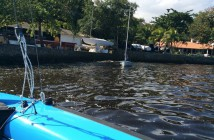 Jo Aleh @joaleh - Ahh yes, back to Rio, Grover's blue deck makes the water look even worse.. Try sailing in it tomorrow!