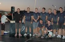 Team Vestas after winning leg zero. Photo: Team Vestas Wind FB Page