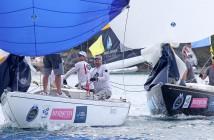 Ian Williams, GAC Pindar leading Francesco Bruni, Luna Rossa © Charles Anderson / AGGC