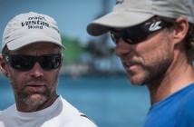 Shore crew manager Neil Cox and skipper Chris Nicholson. Photo: Marc Bow/Volvo Ocean Race