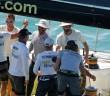 Brunel celebrate their leg 2 victory. Photo: Ainhoa Sanchez/Volvo Ocean Race