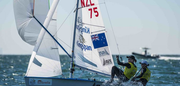 NZL Sailing Team warm up for World Champs in Israel