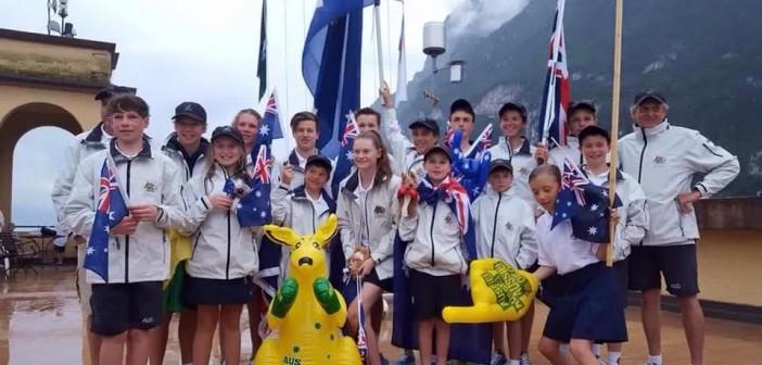 Aussie kids at the Cadet Worlds